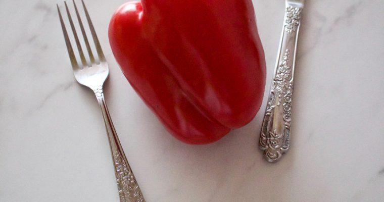 釧路の夕焼けにも負けない真っ赤なサラダパプリカ!